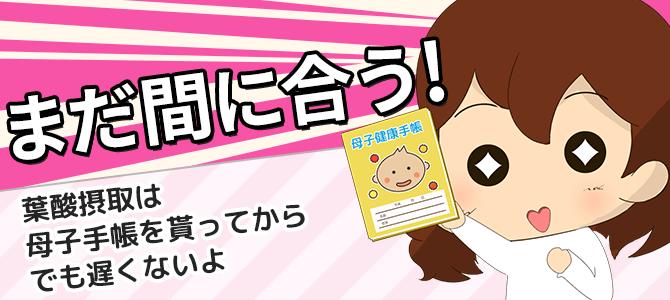 【厚生省推奨】葉酸摂取は母子手帳を貰ってからでも遅くない!